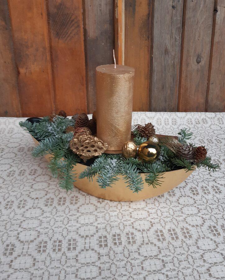 Ziemassvētku dekors - Zelta laiva