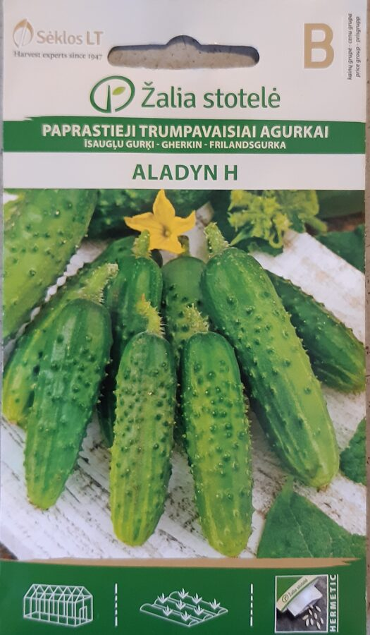 īsaugļu gurķi Aladyn H